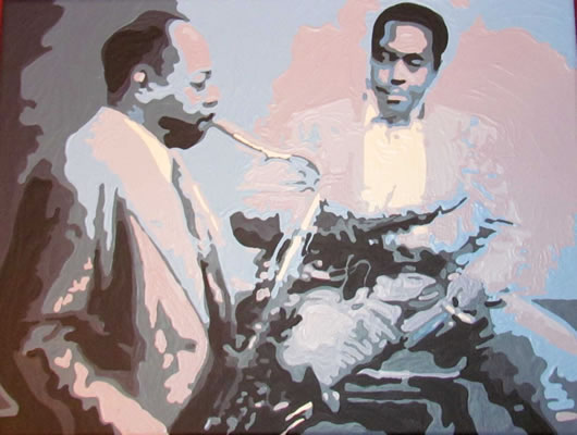 Lester Young and Charlie Parker